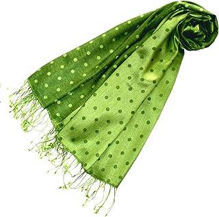 Lorenzo Cana Damen Luxus Pashmina 70% Seide 30% Viskose mit Punkten Schaltuch 70 cm x 190 cm zweifarbig Schal Stola Damenschal Damen