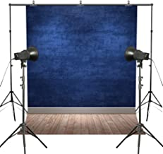 MUEEU Blue Backdrops Ocean Navy Blue Vinyl Thin Photography Background Solid Colour Wall Wood Floor Potriotic Seamless Studio Props for Photographers 6x9ft
