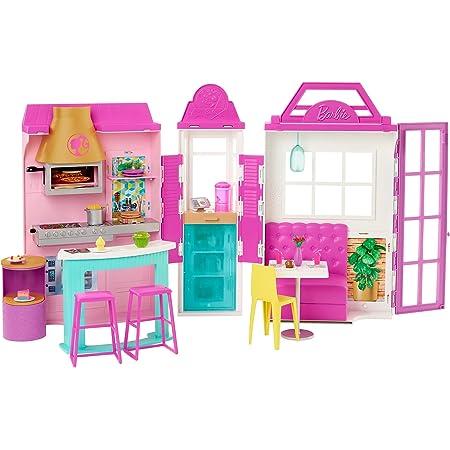 バービー(Barbie) グリル・レストラン 【着せ替え人形・ハウス 】【ハウス、アクセサリー付き】【3歳~】 GXY72