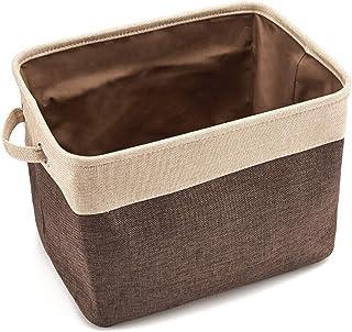 None/Brand Yisika Panier de Rangement,Boîte de Rangement Pliable en Tissu avec Poignées en Corde de Coton pour Placard de ...