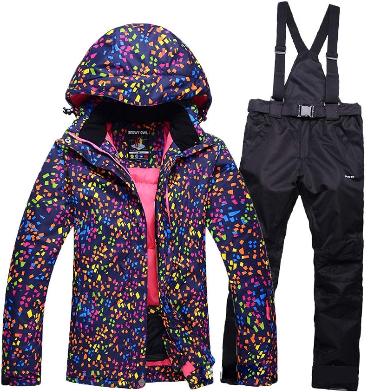 YUKILO Women's Ski Jacket High Windproof Waterproof Technology Snow Jacket
