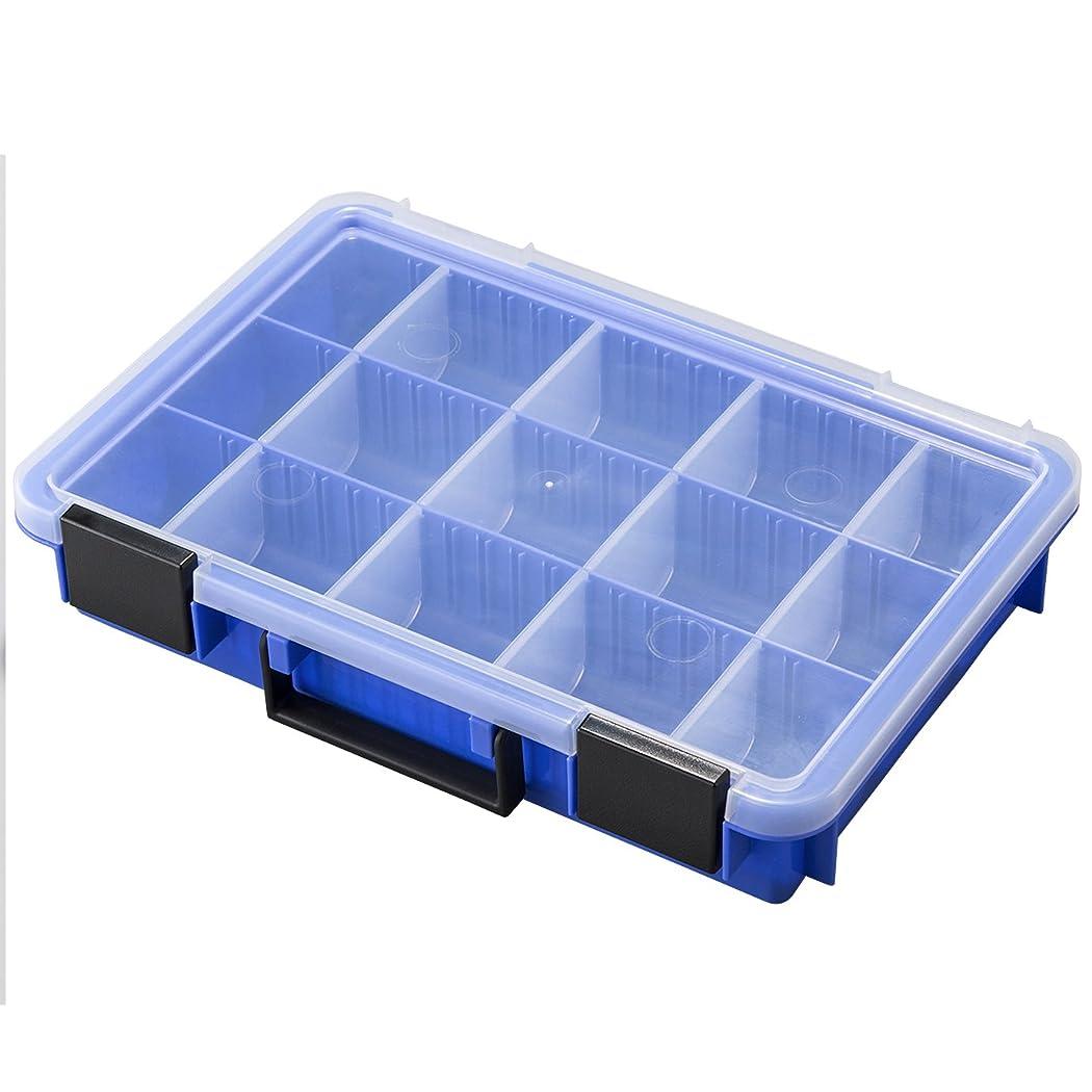 識別するあえぎ夜明けにAstage(アステージ) パーツストッカー ブルー 付属仕切板12枚付き W約35.8×D約24.4×H約6.8cm PS360