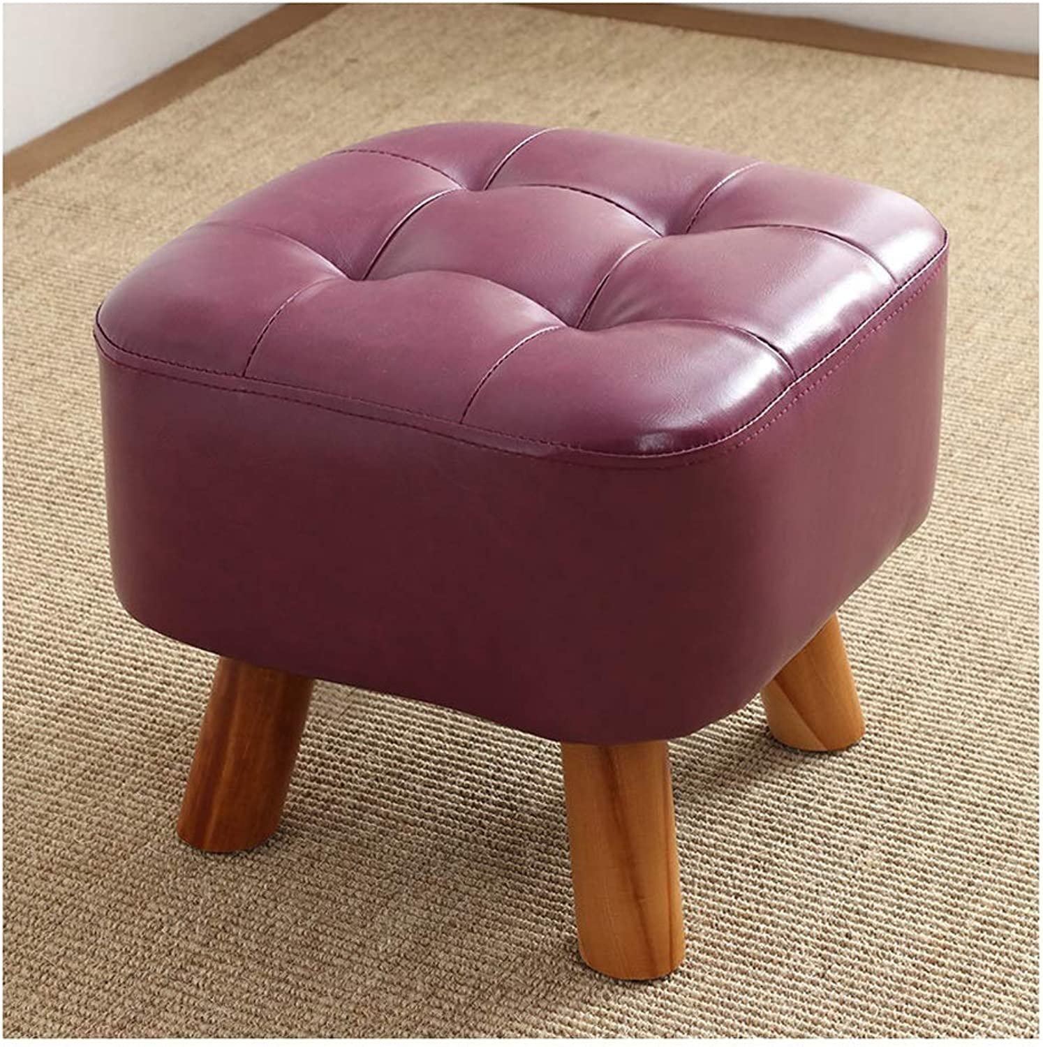 Stools Change shoes Bench, Solid Wood Fashion Creative Sofa Stool 35×35×34cm (color   C)