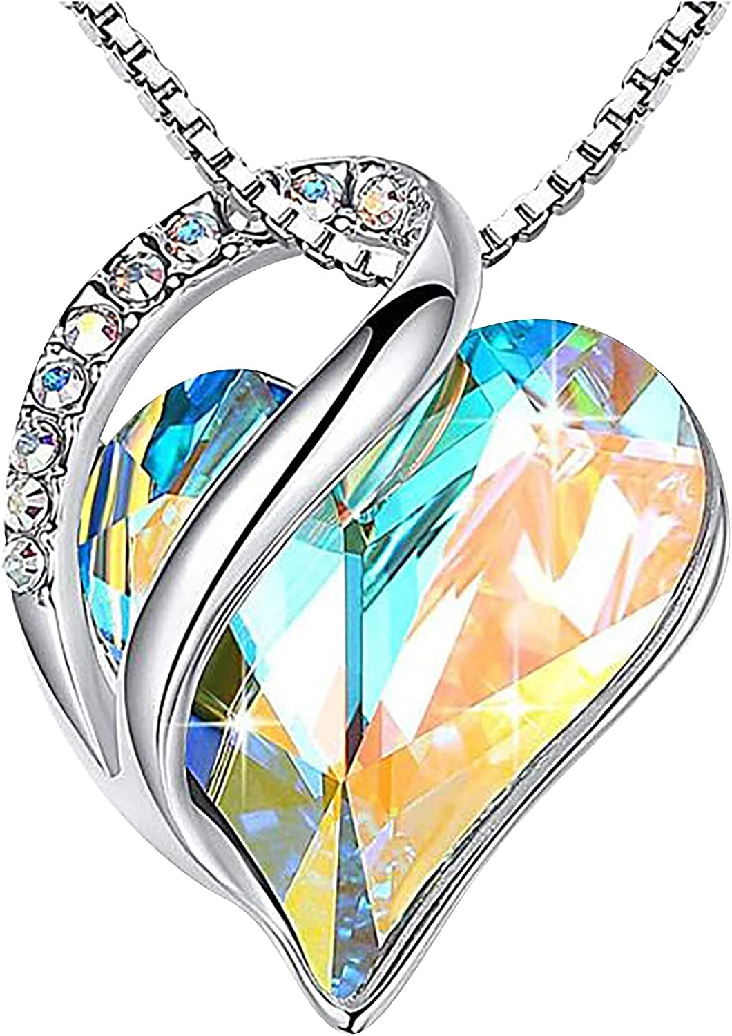 Heart Butterfly Shaped Crystal Necklace Directly managed store Industry No. 1 Clavicle Chain Women for