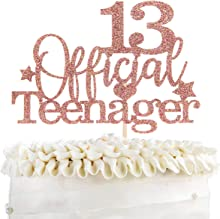 KakaSwa Official Teenager 13 Cake Topper, Boys Girls Happy 13th Birthday Cake Decoration, Teenager Birthday Party Supplies, Cheers to 13 Years Party Supplies ,Rose Gold