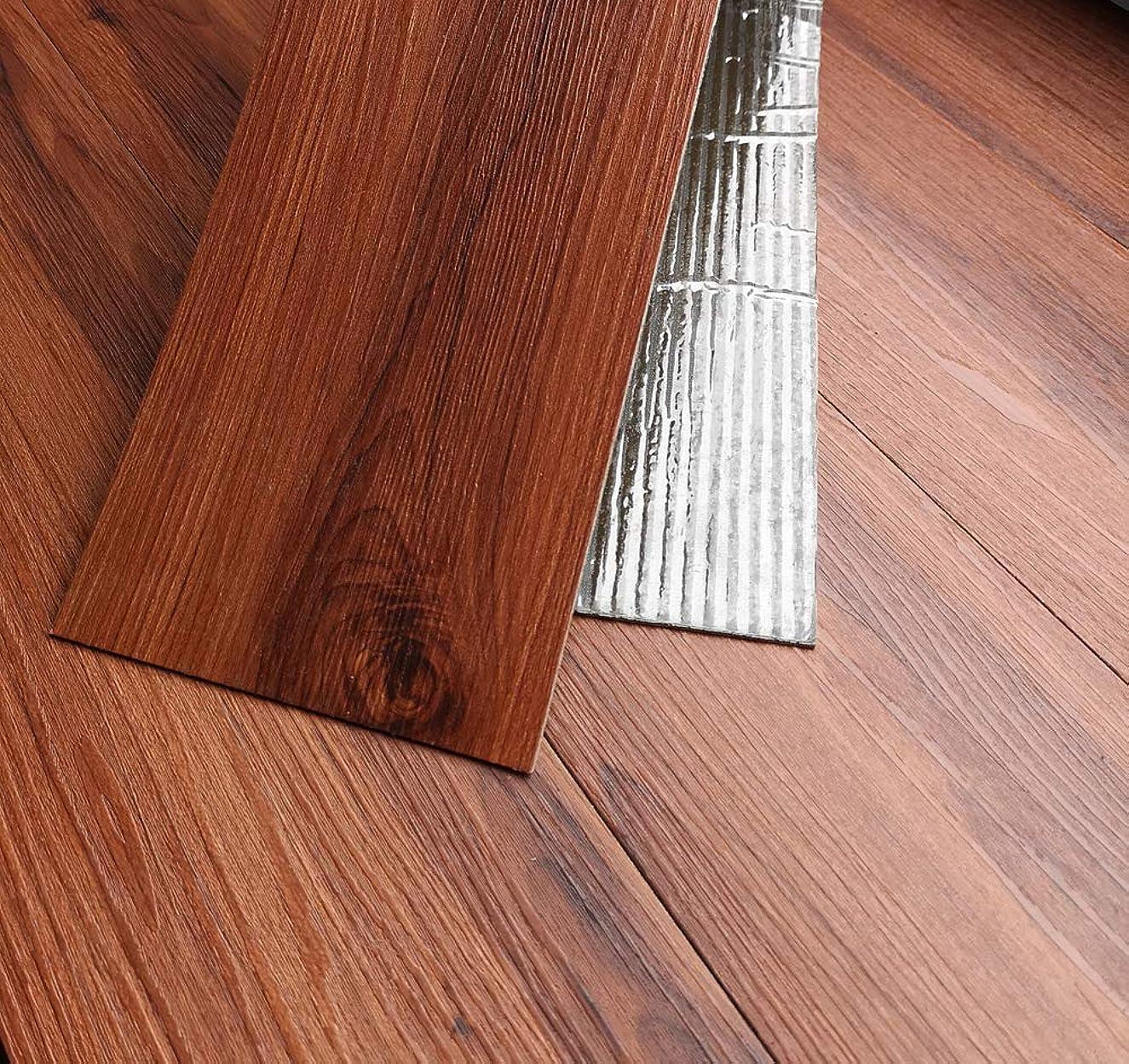 最少スリッパタバコTakarafune フローリング 床デコ フロアタイル 接着剤不要 木目 床 防水シート 床材 貼るだけフローリングタイル 36枚セット