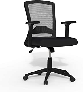 Linea Italia N431N Porto 办公椅,中号,黑色