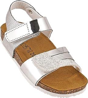 012-342 Biochic Girls Sandals Metallic Silver