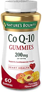 CoQ10 Gummies by Nature's Bounty, Dietary Supplement, Supports Heart Health, 200mg, Peach Mango Flavor, 60 Count