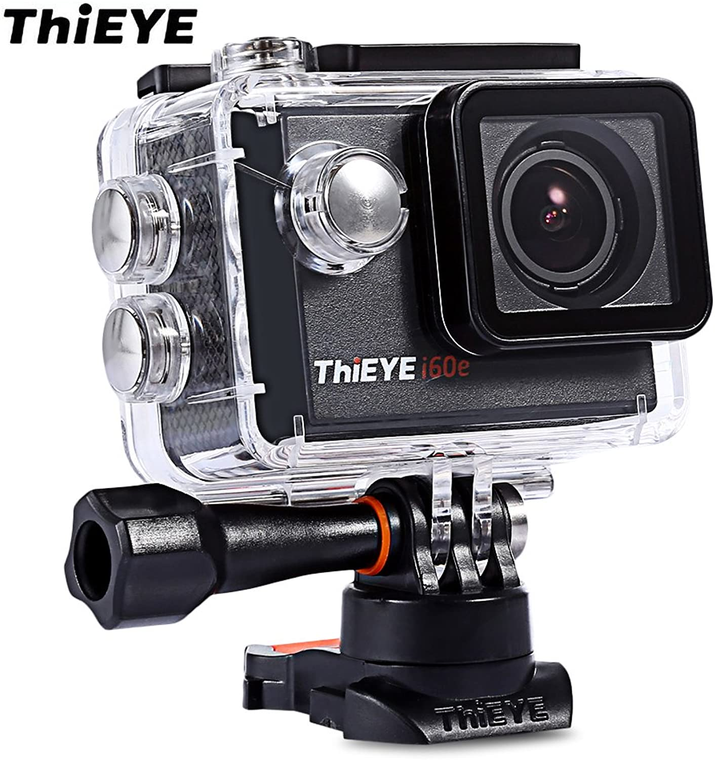 ThiEYE i60e Action Sport Camera WiFi 170 Degree Wide Angle Action Camera 4K Ultra HD Action Camera Sport Cam Loop Recording 2 inch Display Screen with Waterproof Case ,2PCS Batteries Included