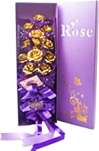 JEWEL FUEL Valentine Gift 24K Gold 11 Roses Bouquet With Gift Box - 21 Inch