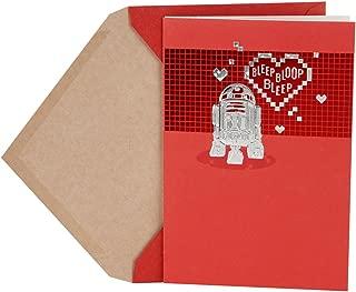 Hallmark Valentine's Day Card (Star Wars R2-D2 and Hearts)