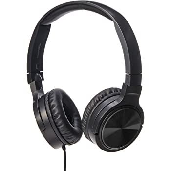 AmazonBasics Lightweight On-Ear Wired Headphones, Black