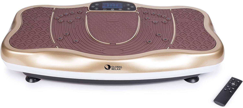GLOBAL RELAX Zen Shaper® Plataforma Fitness (Modelo 2021) - Tabla de Acondicionamiento Corporal estético - Altavoces y música por Bluetooth - Estimulación de la Elasticidad Muscular