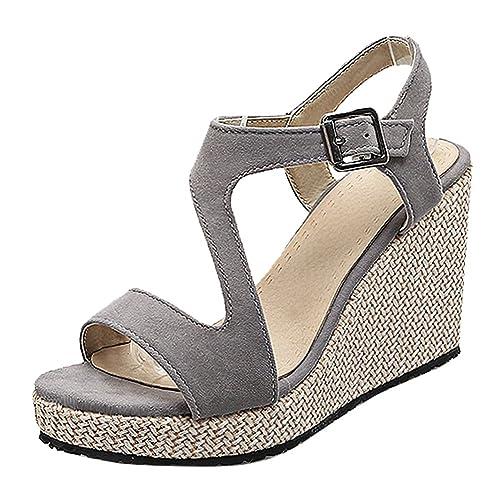 2df1065c4a38 Latasa Women s Open-Toe Platform Wedges Sandals