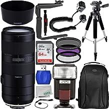 Tamron 70-210mm f/4 Di VC USD Lens for Nikon F Pro Bundle for D3300; D3400; D3500; D4s; D5; D500; D5200; D5300; D5500; D5600; D610; D7000; D7100; D7200; D750; D7500; D800E; D810; D810A & D850