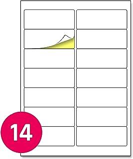 confezione da 18 24 x 67 mm colore: Bianco Apli Mini etichette