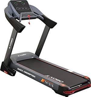 Kobo Fitness A.C Motor 3 H.P TM-315 Semi Commercial Auto Incline Treadmill and Free Installation Assistance, Full Display ...