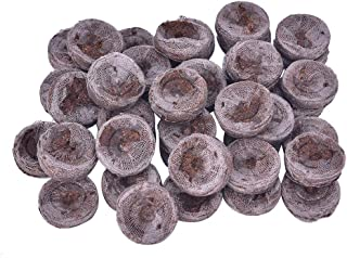 YUYUE 50pcs 25mm Jiffy Peat Pellets and Coco Pellets Seed Starting Plugs Seeds Soil