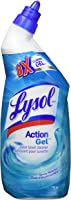 Lysol Toilet Bowl Cleaner, Action Gel, Spring Waterfall, 710ml, 8x Clinging Gel