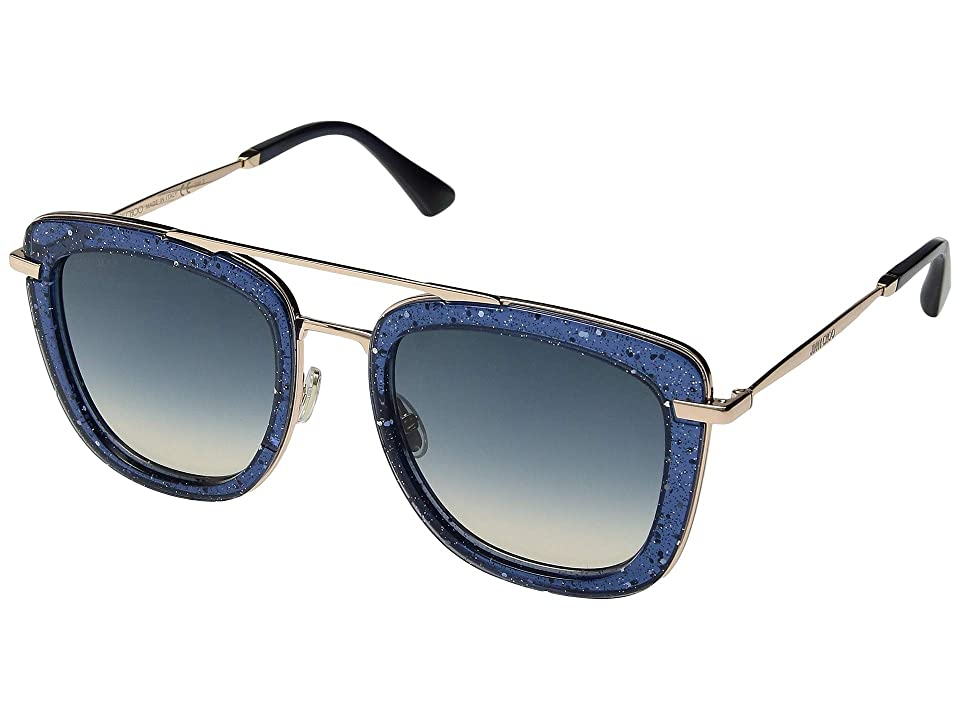 Jimmy Choo Glossy/S (Blue/Blue Gradient) Fashion Sunglasses