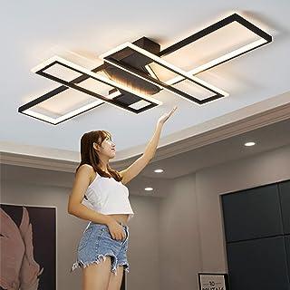 Plafonnier LED Salon Lumière Pendentif Lampe Dimmable 72 / 120W Creative Aluminium Acrylique Design Lampe Plafonnier Éclai...