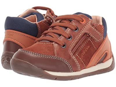 Geox Kids Each 31 (Infant/Toddler) (Brown/Orange) Boys Shoes