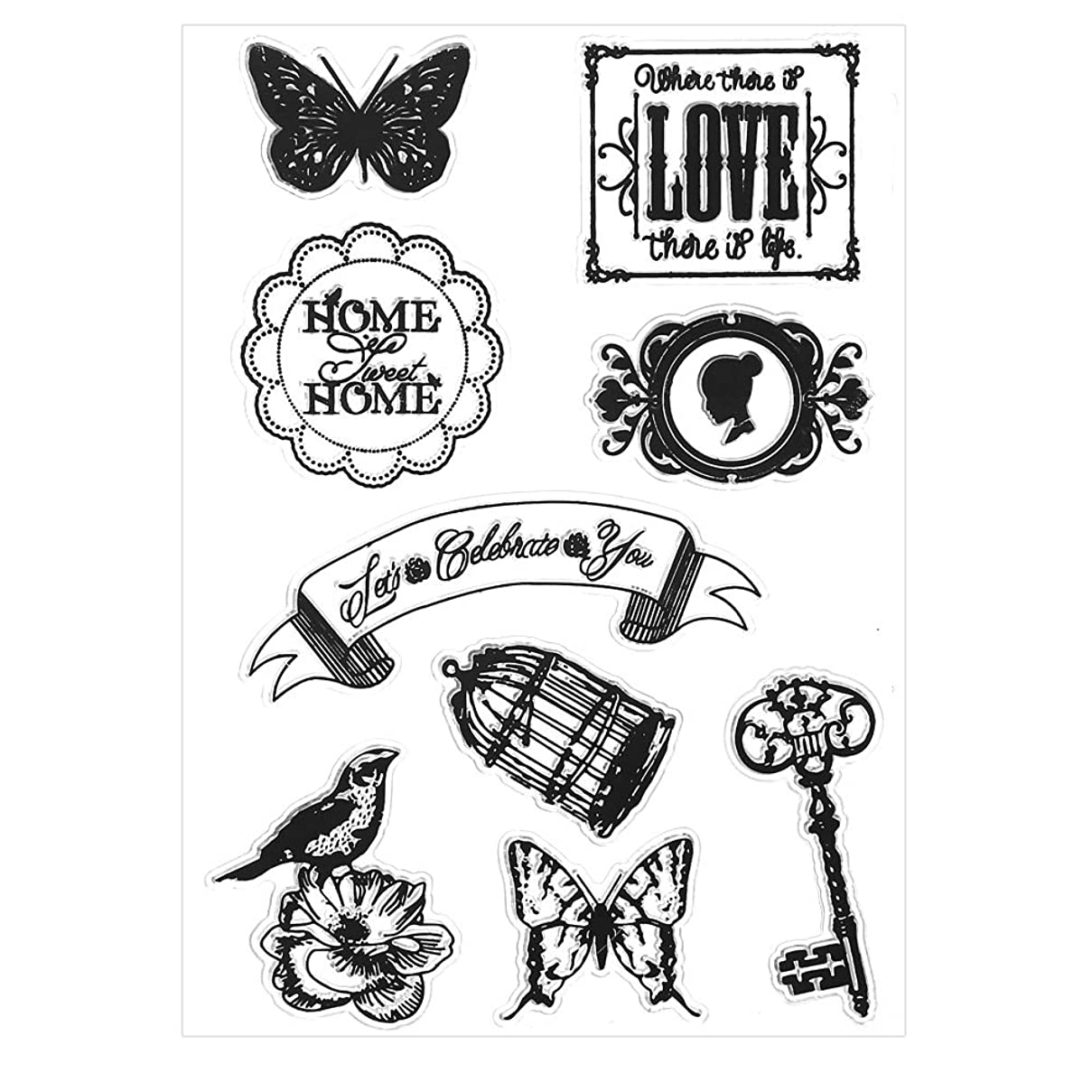 Flowers Owl Silicone Clear Stamps for Card Making Decoration and Scrapbooking Photo Frame Gifts Scrapbook Album Craft