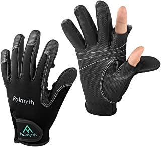 Palmyth Neoprene Fishing Gloves for Men and Women 2 Cut Fingers Flexible Great for Photography Fly Fishing Ice Fishing Running Touchscreen Texting Hiking Jogging Cycling Walking