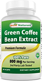 Best Naturals Green Coffee Bean Extract, 400mg per Capsule, 60 Vcaps per Bottle (Contains 800mg in Serving Size of 2 Capsu...