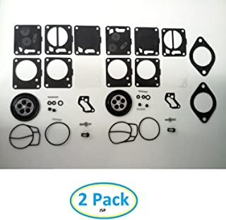 Carb Rebuild Kit with Base Gaskets Compatible with SeaDoo 650 657 720 717 787 800 XP Carburetor