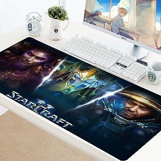 Alfombrilla De Ratón Starcraft Alfombrilla De Escritorio Grande Juego De Anime Alfombrilla De Escritorio para Trabajo Gaming Office Home E (900 X 400 Mm / 2 Piezas)