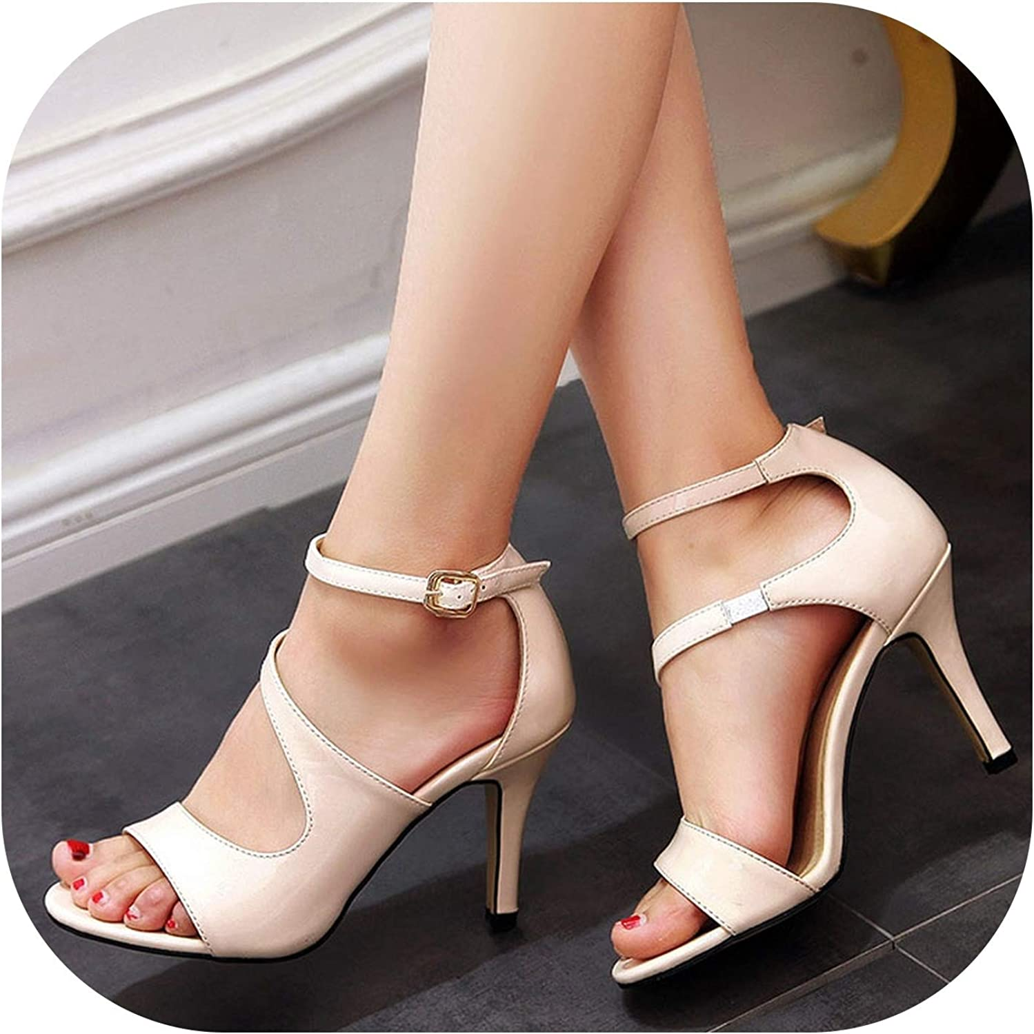 Sexy Sandals Style Patent Leather Thin High Heel Women Party shoes