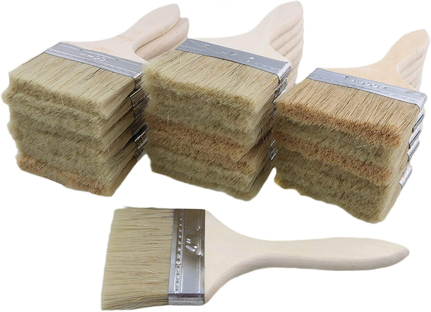 Paint Stains Brush Wood Handles Finally popular brand Chip Inch of Pack 4 20 Weekly update