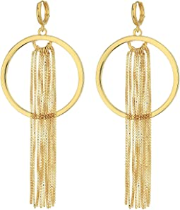 Hoop with Chain Tassel Earrings