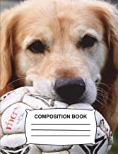 Composition Book: Graph Paper 4x4 (108 pages) - Golden Retriever Fun Notebook gift for boys, Journal for girls, kids, students, teachers, school, Home & Office