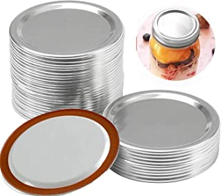 24 Pack Regular Mouth Canning Lids and Bands,Suitable for Mason Jar, Stainless Steel Lids For Mason Jar Regular Mouth, Spl...
