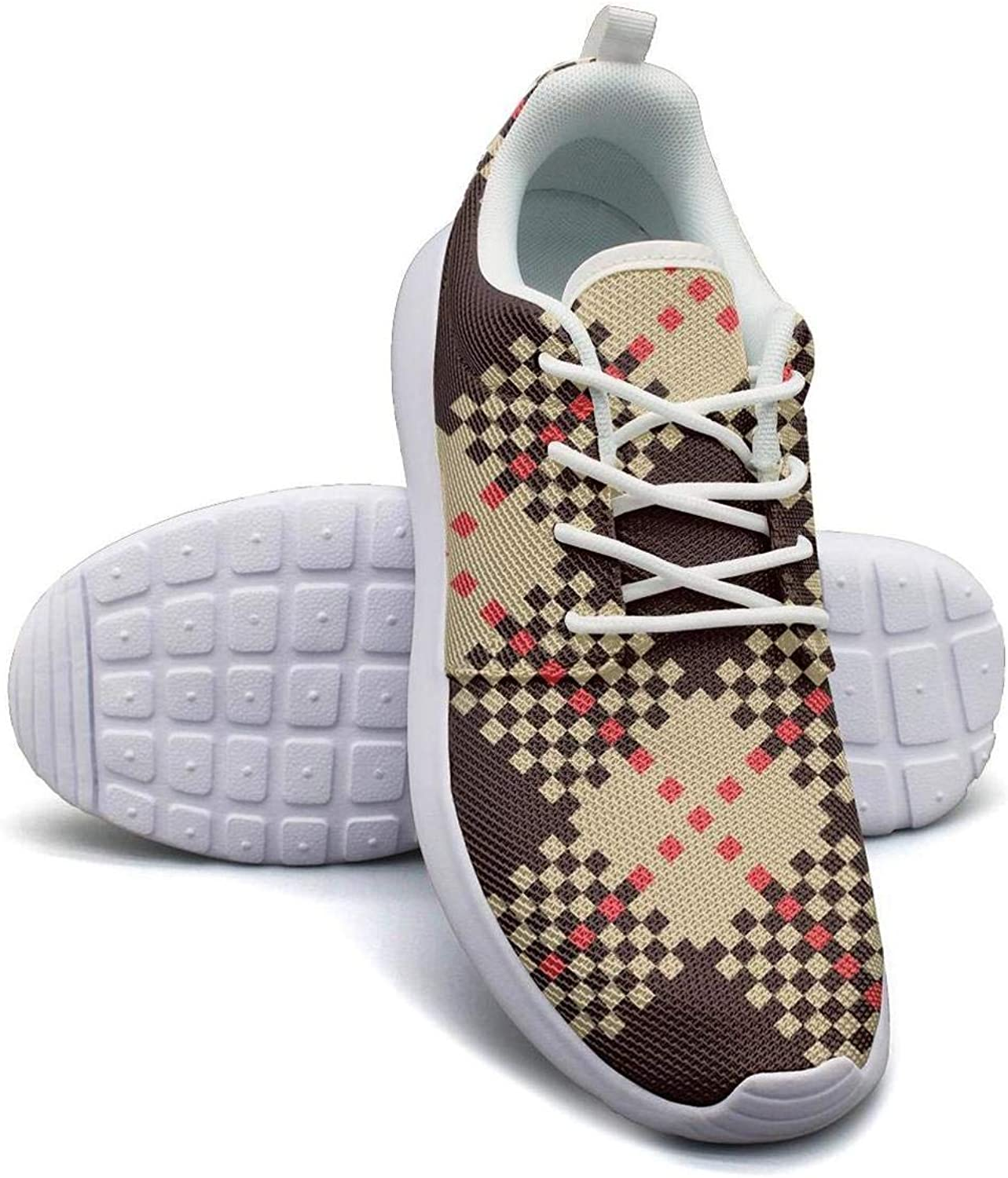 Hobart dfgrwe Red White Checkerboard Mosaic Lattice Girl Canvas Casual shoes Designer Tennis shoes