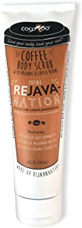 Total ReJAVAnation Premium Arabica Coffee Scrub with Sweet Almond Oil 8 oz Tube Targets Cellulite, Dry Rough Skin, Stretch Marks and More!