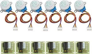 Gazeer 6SetsStepperMotor28Byj-485VDc4-Phase5-Wire+Uln2003DriverBoard