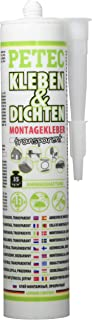 Petec 94929 Ecoline Montagekleber, Transparent