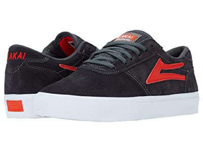 Lakai Manchester (Charcoal/Flame Suede) Men