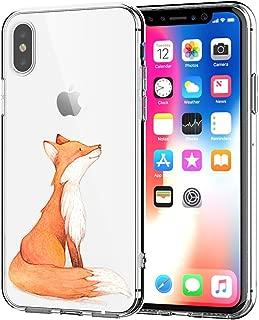 AIsoar Case iPhone Xs Max TPU Soft Flower Printed Cute Silicone Shock-Absorption Non-Slip Sweatproof Gel Bumper Clear Cute Cartoon Patterns Protective Ultra Slim Case for iPhone Xs Max 6.5'' (Fox)