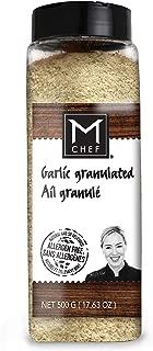 MCHEF Garlic, Organic Kosher Non GMO Gluten Free Spices and Seasonings, Granulated (17.63 oz)