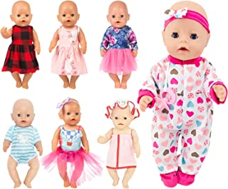 SOTOGO 13 Pieces Doll Clothes Outfits Dresses for 14 to 16 Inch Newborn Baby Dolls,15 Inch Bitty Baby Doll and American 18...