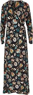 Boho Bird Womens Maxi Dresses Life is Beautiful Wrap Maxi Dress Blkfleur