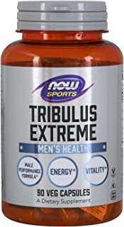 NOW Sports Nutrition, Tribulus (Tribulus terrestris) Extreme, Enhanced Vitality, Men's Health, 90 Veg Capsules