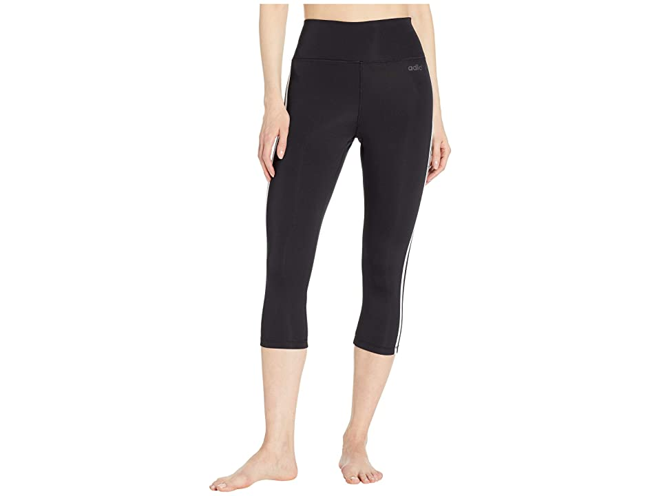 adidas Designed-2-Move High-Rise 3/4 3-Stripes Tights (Black) Women's Casual Pants