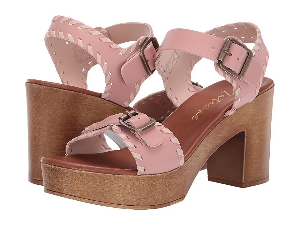 Matisse Twiggy Wooden Heeled Sandal (Blush) Women