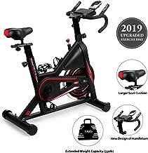 DMASUN Exercise Bike, Indoor Cycling Bike Stationary, Comfortable Seat Cushion, Multi - Grips Handlebar, 42Lbs Flywheel Upgraded Version (Black)